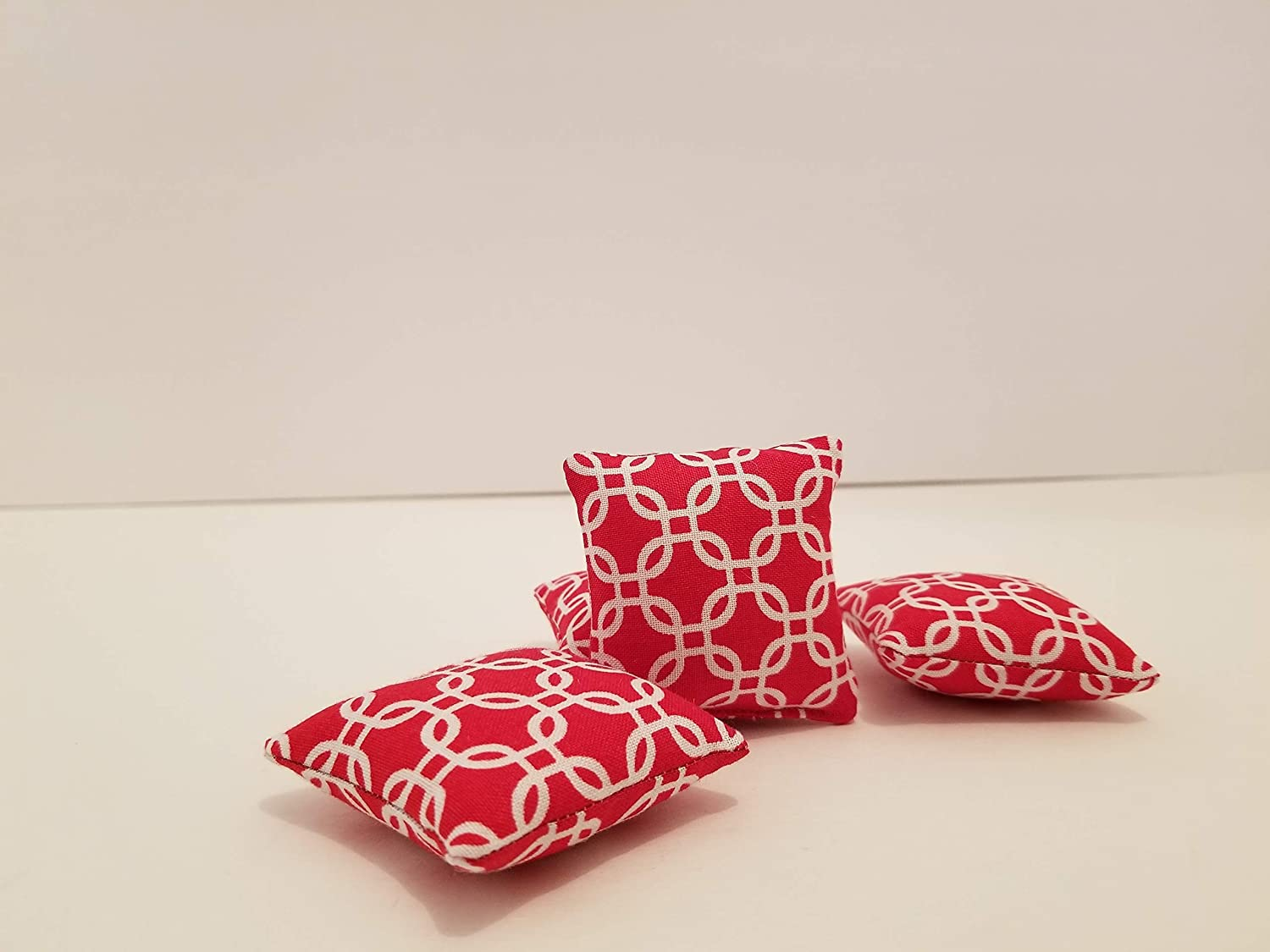 Miniature Pillows Set of 4 PIllows for Doll House