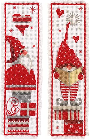 Fairy Tales ~ DIY Counted Cross Stitch Pattern Gnomes 1 ~ Christmas