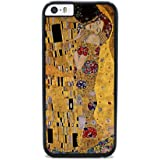 Insomniac Arts - The Kiss by Gustav Klimt- iPhone 6 Cover, Cell Phone Case - Black Silicone Rubber Sides
