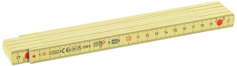 gelb BMI 936001 Kunstoffgliederma/ßstab Longlife aus glasfaserverst/ärktem Kunstoff 2 m