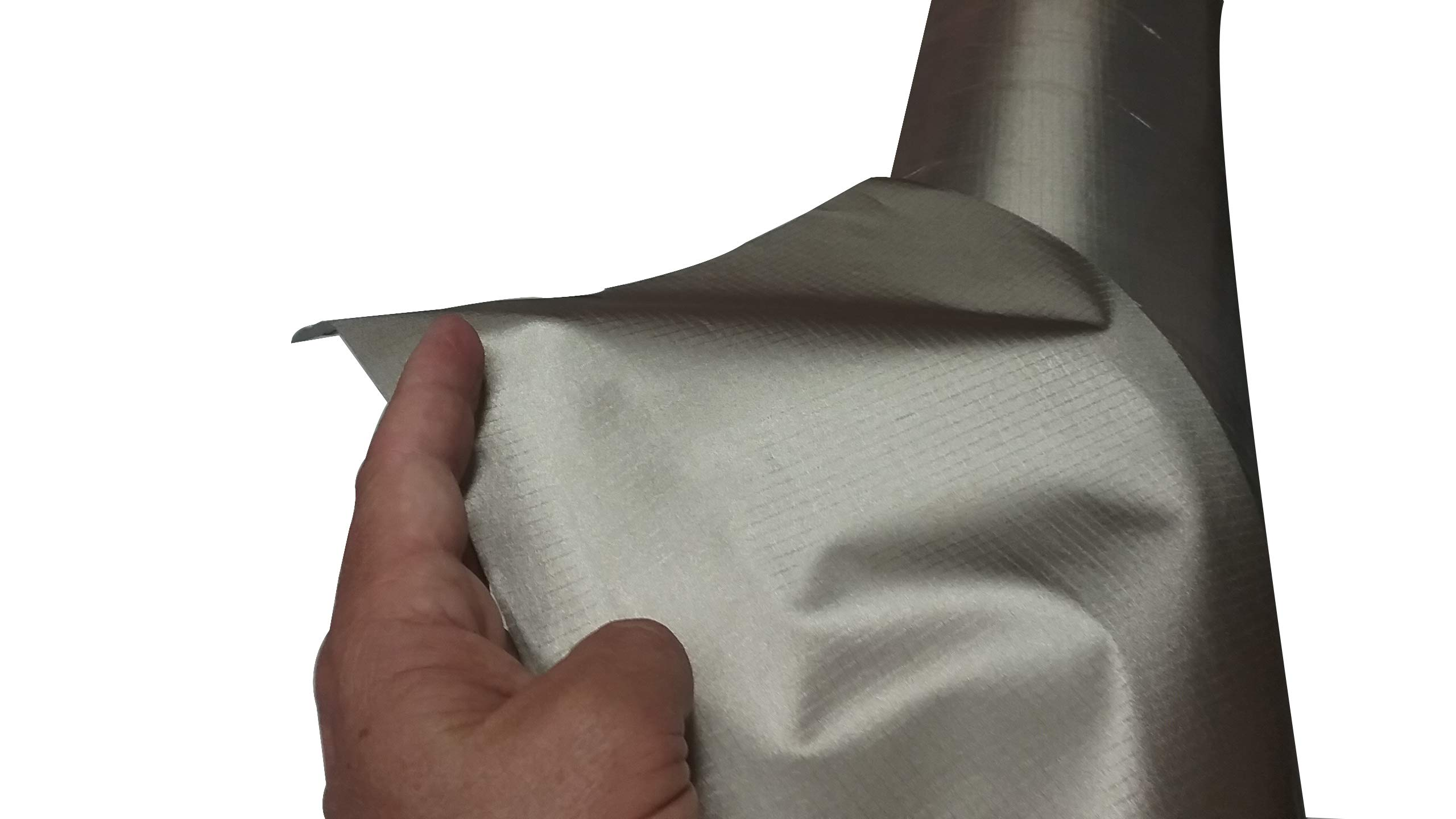 Sticky Copper/RPET/Nickel Coated Electrically Conductive Fabric RFID Shielding (1 Linear Foot)