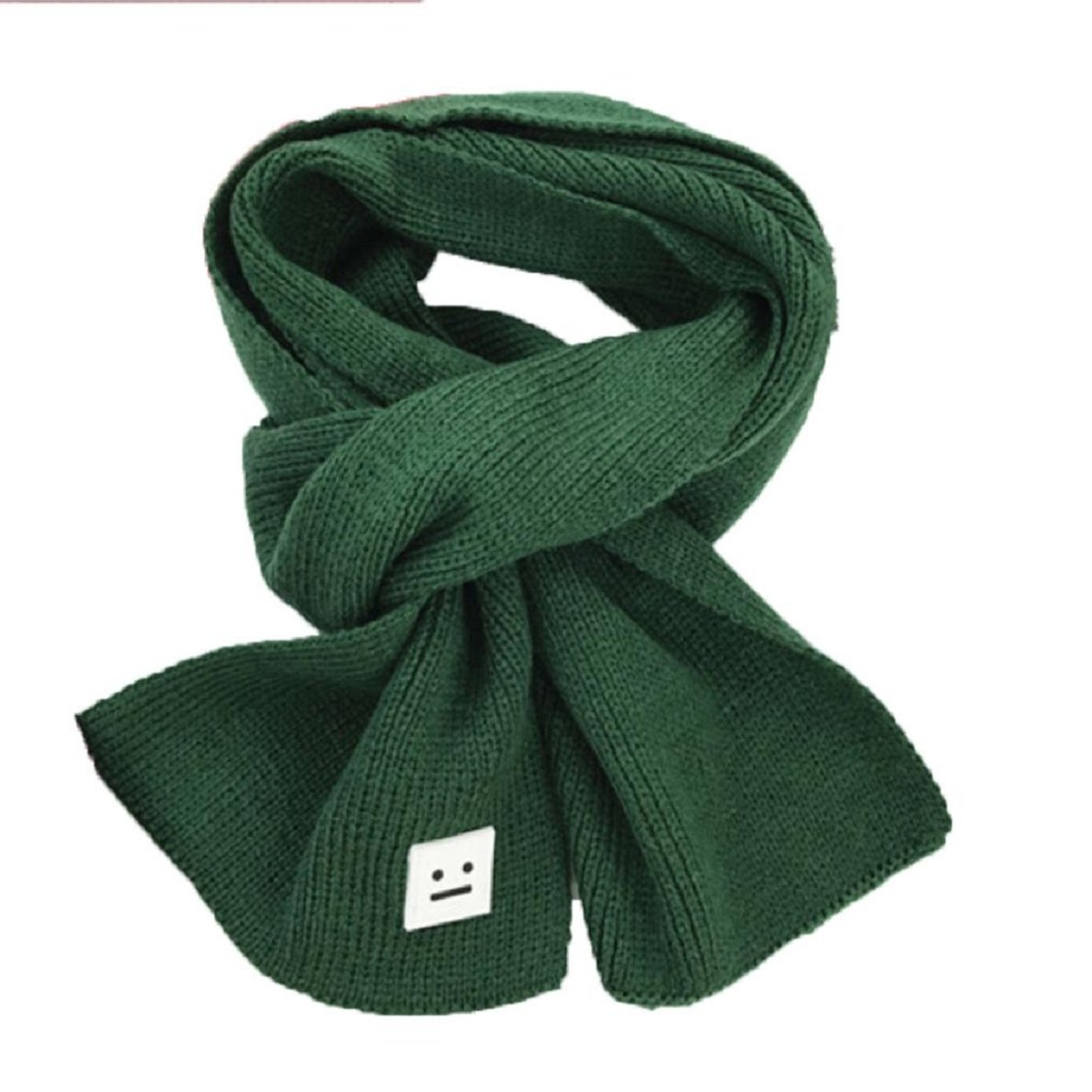 Yihaojia Fashion Smile Children Knitted Scarf Winter Keep Warm Girls Boys Scarves Green