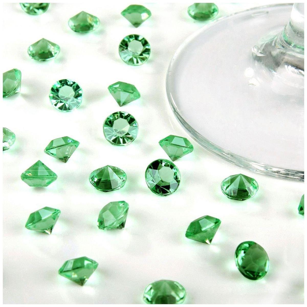 TOOGOO ( R ) 5000 4.5 MMダイヤモンド散布クリスタル結婚式テーブルデコレーション( Aqua Blue ) グリーン B077HT75QD  ライトグリーン