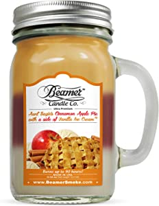 Beamer 12oz Aunt Suzie's Apple Pie (3 Different Scents) Scented Candle Co. Ultra Premium Jar Candle. 90 Hr Burn Time. USA Made