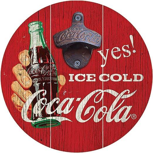 BRAND NEW Coca-Cola Red Wooden Bottle Keychain