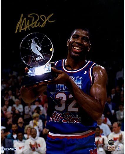 ed2cbecd8dc Magic Johnson Signed 1992 All-Star Game MVP 8x10 Photo at Amazon s ...