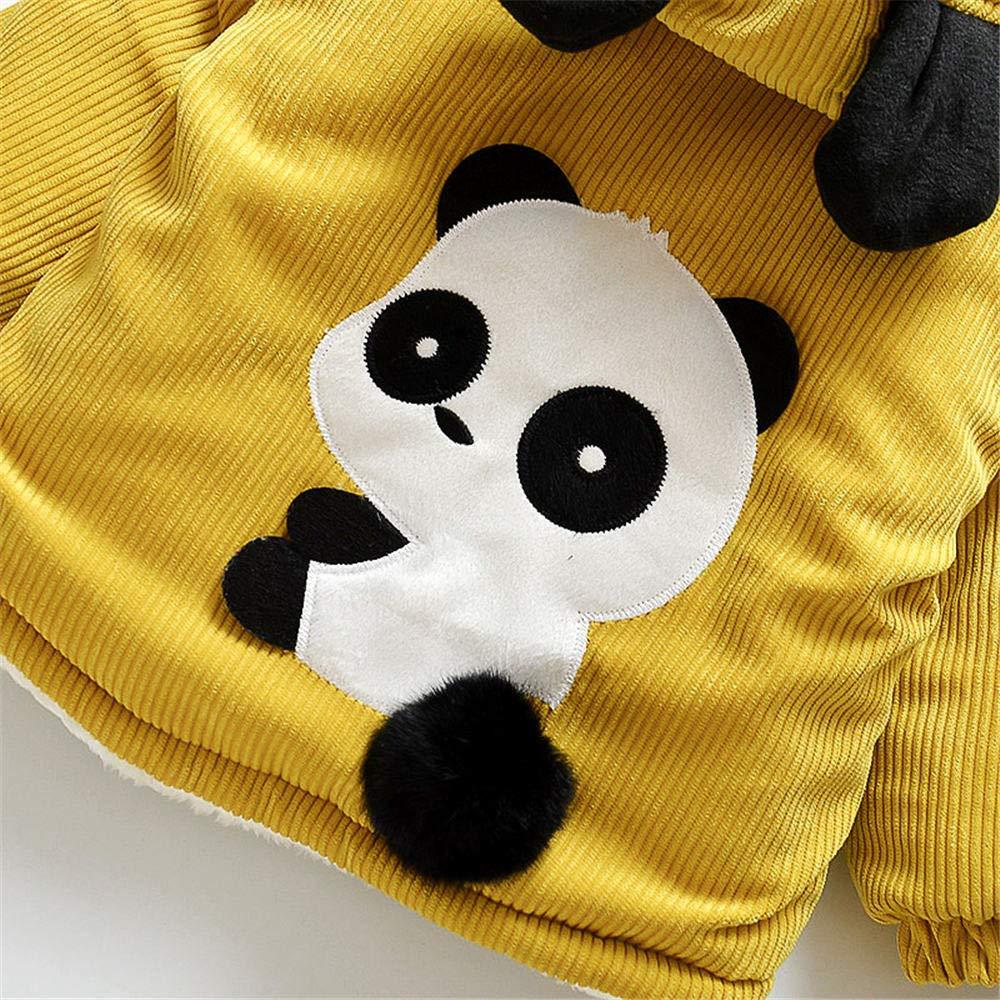 Jchen(TM) Infant Kids Little Girls Boys Cartoon Panda Winter Warm Jacket Hooded Zipper Outerwear Coat for 1-3 Y (Age: 12-18 Months, Yellow) by Jchen Baby Coat (Image #8)