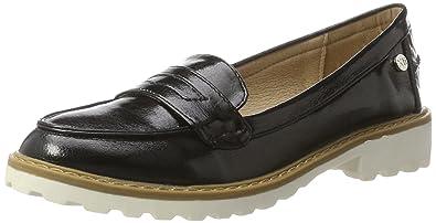 XTI Black Metallic Ladies Shoes, Mocasines para Mujer: Amazon.es: Zapatos y complementos