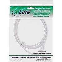 InLine® DC verlengkabel, DC-stekker/bus 5,5x2,1mm, wit, 1m