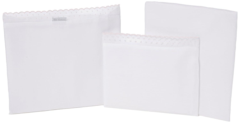 Petit Lazzari LLuvia - Juego de 3 sábanas para capazo, cuco o moisés, 35x75 cm, color rosa Lazzari Textil S.L.