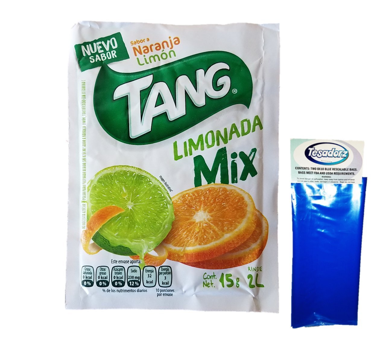 Amazon.com : Tang Naranja and Limon Limonada Drink Mix (Pack of 18) with Tesadorz Resealable Bags : Grocery & Gourmet Food