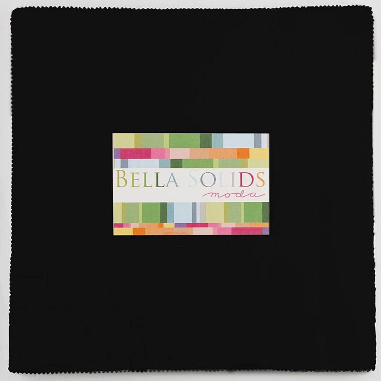 Moda Bella Solids Black Layer Cake 42 10 Fabric Squares 9900LC-99