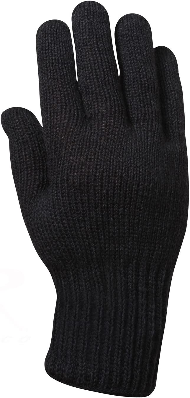 Black D-3A Military Wool Nylon Blend Glove Liners Made in the USA Rothco 8418