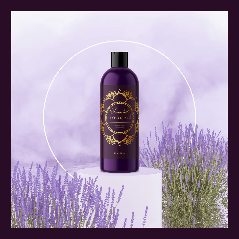Massageöl - Mischung aus Lavendelöl, Jojobaöl und Mandelöl