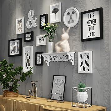 Amazon De Europaische Holz Bilderwand Bilderrahmen Galerie