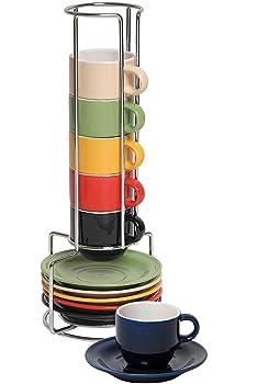 Stoneware Ceramic Espresso Cups Set