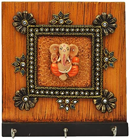Crafticia Indian Craft Rajasthani Pink City Jaipur Unique Wooden Traditional Handmade Handicraft Spiritual Lord Ganesha Paper