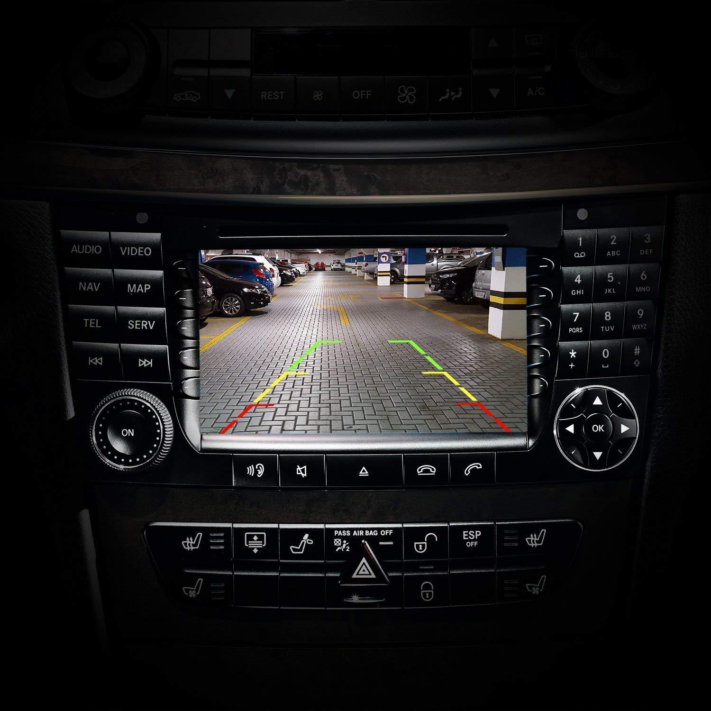 HD 720p Rear View Back Up Reverse Parking Camera in License Plate Waterproof Night Version for Mercedes Benz A Class W176 NTSC E Class W212 W207 C207 C Class W204