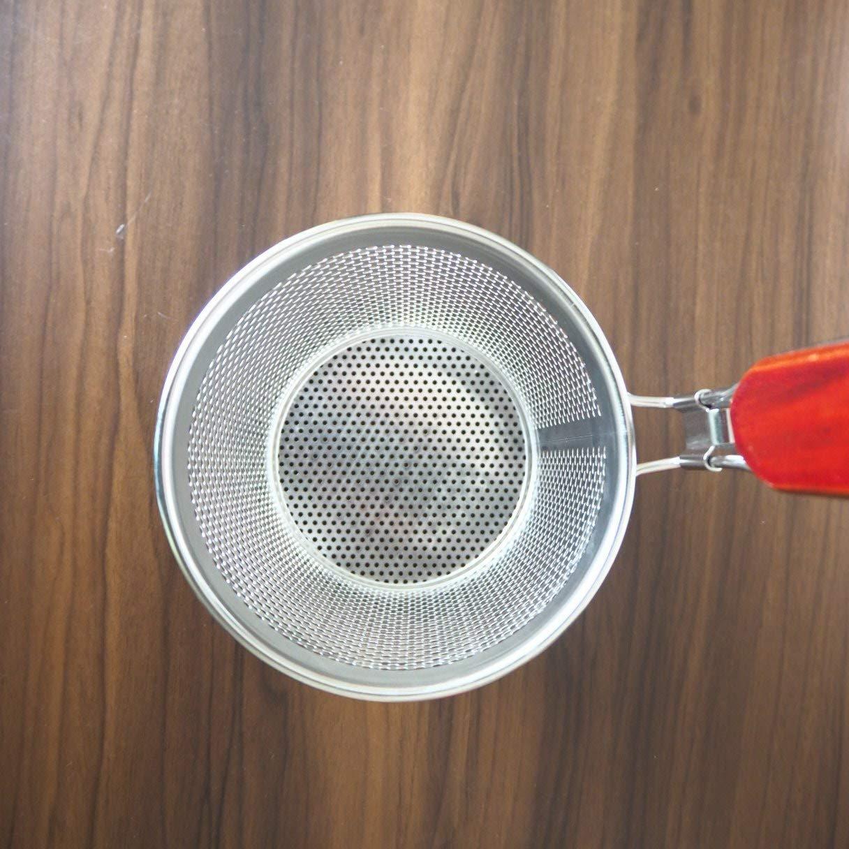 Favson Kitchen mikroperforierter Edelstahl Pasta-Korb Mesh Spinnennetz Lebensmittel-Kn
