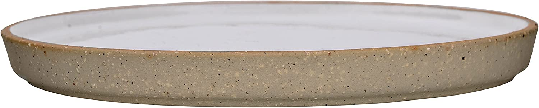 White Bloomingville A27104036 Ceramic Barbara Plate