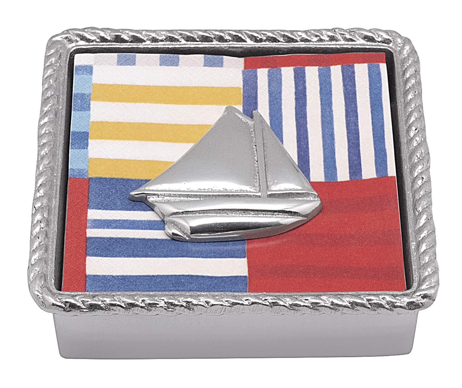 Sailboat Twist Napkin Box by MARIPOSA