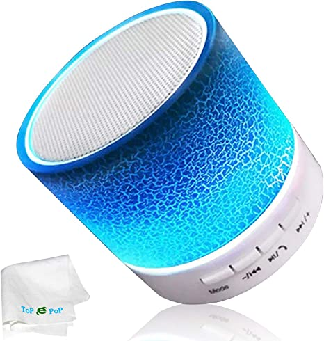 Amazon.com: topepop Mini Color Cambiante altavoz bluetooth ...