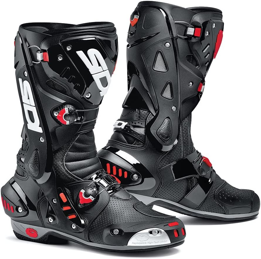 Free P/&P Sidi Vortice Black Red White Supersport Motorcycle Boots