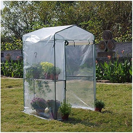 LIANGLIANG- Invernadero de Jardín Plantas Flores Suculentas Sombra Anti-UV Impermeable Resistente A La Rotura, Polietileno (Color : White, Size : 122x92x186cm): Amazon.es: Hogar