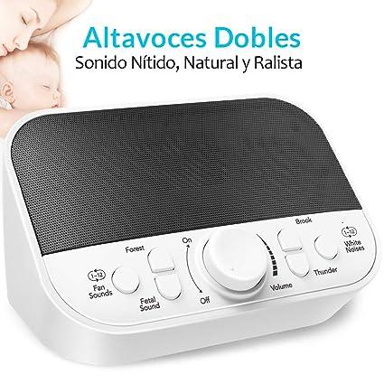 Máquina de Ruido Blanco, Máquina de Temporizador Sueñopara Recién Nacidos, Bebés