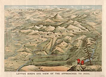 Map 1900 Letts S Bird S Eye View Of The Approaches To India Flags
