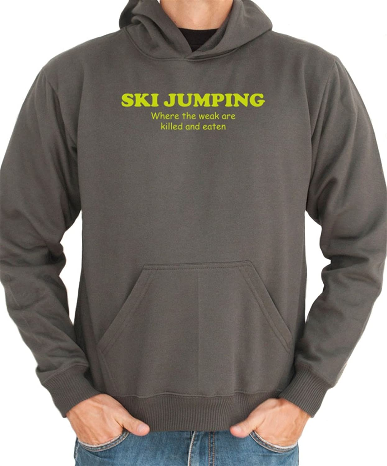 Ski Jumping WHERE THE WEAK ARE KILLED AND EATEN Hoodie
