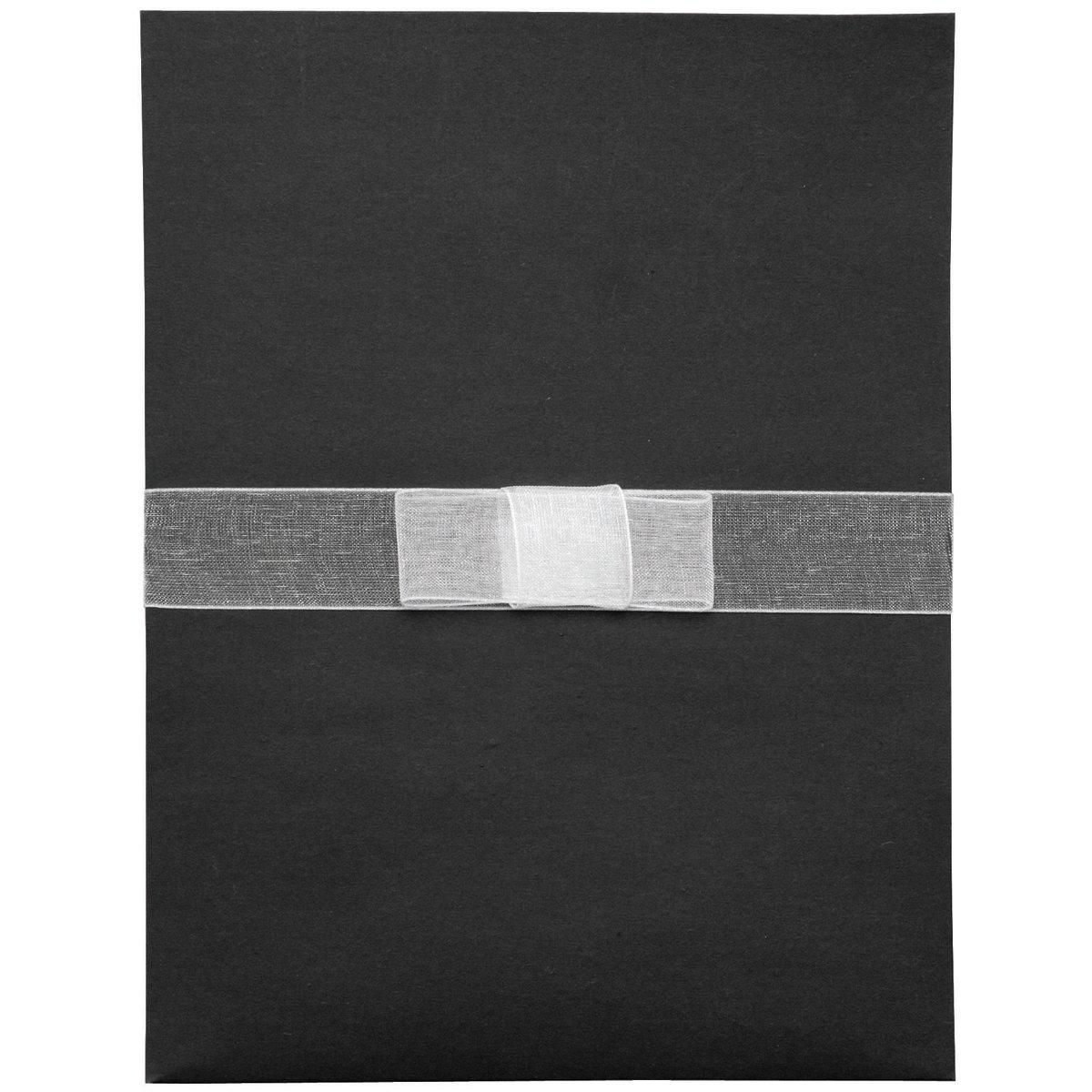 エレガンスの招待状キット 25/Pkg-ブラック/ホワイト B002PNP758 Elegance Elegance