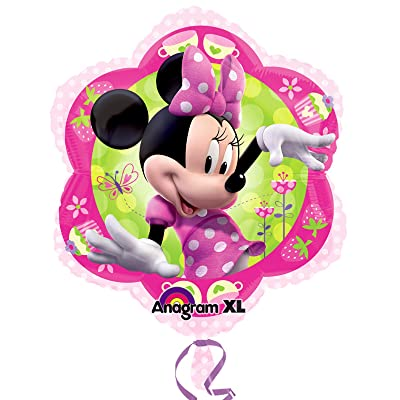 "Minnie Mouse Pink Flower Shape 18"" Mylar Foil Balloon: Toys & Games"