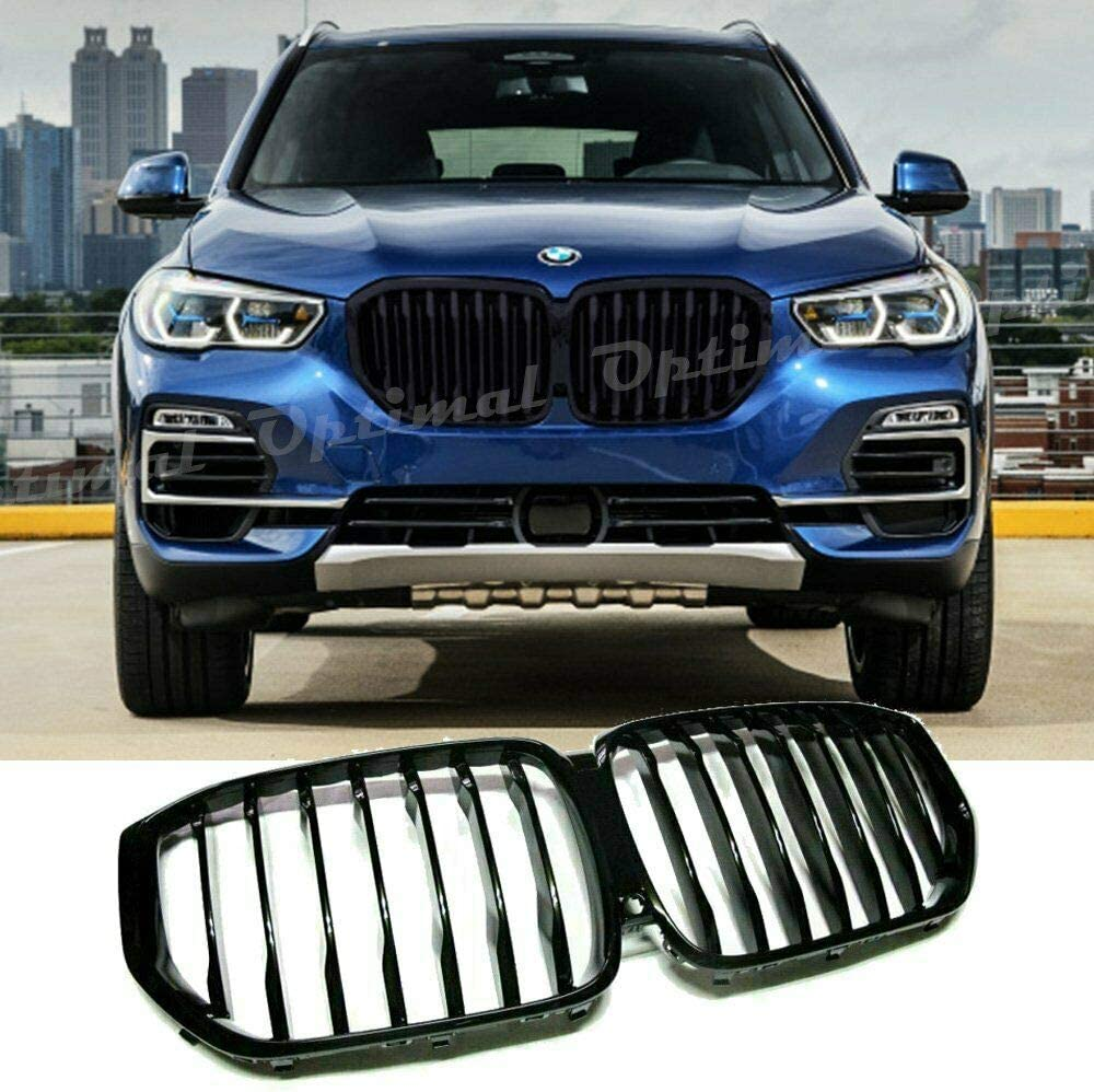 BMW X Series >> 2019 2020 Glossy Black Kidney Grille For Bmw X5 G05 Performance Style Grill Front Hood Insert Replacement