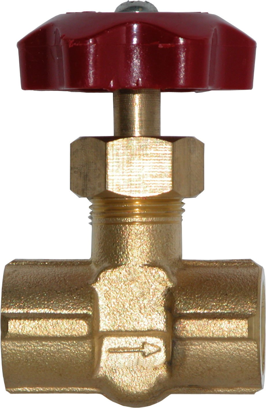 Winters SNV Series Brass Needle Valve with ABS Plastic Handle, 1/4'' NPT Female