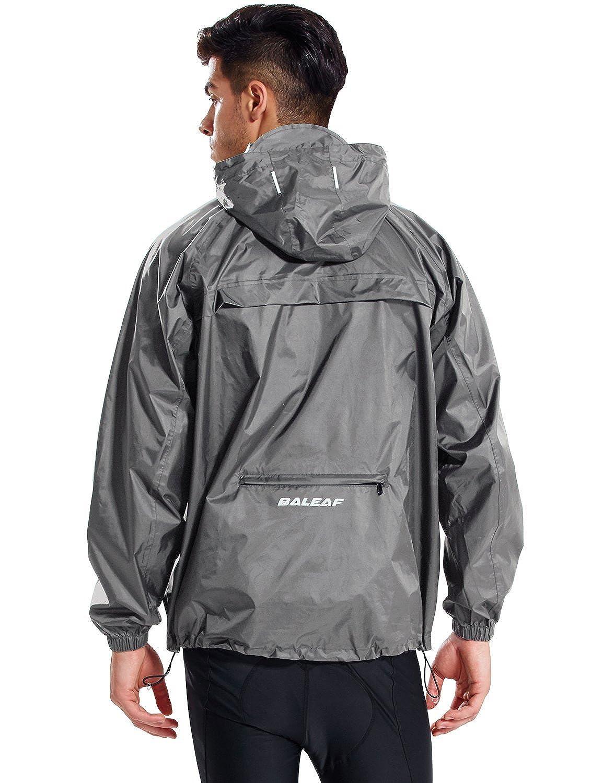 Baleaf Unisex Packable Outdoor Waterproof Rain Jacket Hooded Raincoat Poncho