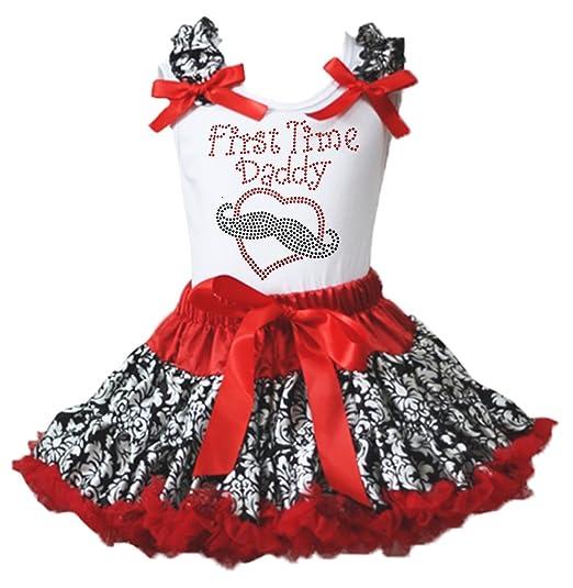 Saint Valentin robe First Time Daddy damassé Blanc pour homme Rouge Jupe  Fille de 1– 10fe44a2f2a