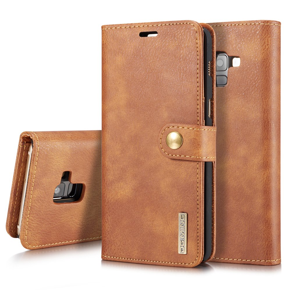 TOTOOSE Samsung Galaxy A8 Plus 2018 Case, [Portable Wallet ] [ Slim Fit ] Heavy Duty Protective Back Shell Flip Cover Wallet Case for Samsung Galaxy A8 Plus 2018 - Brown