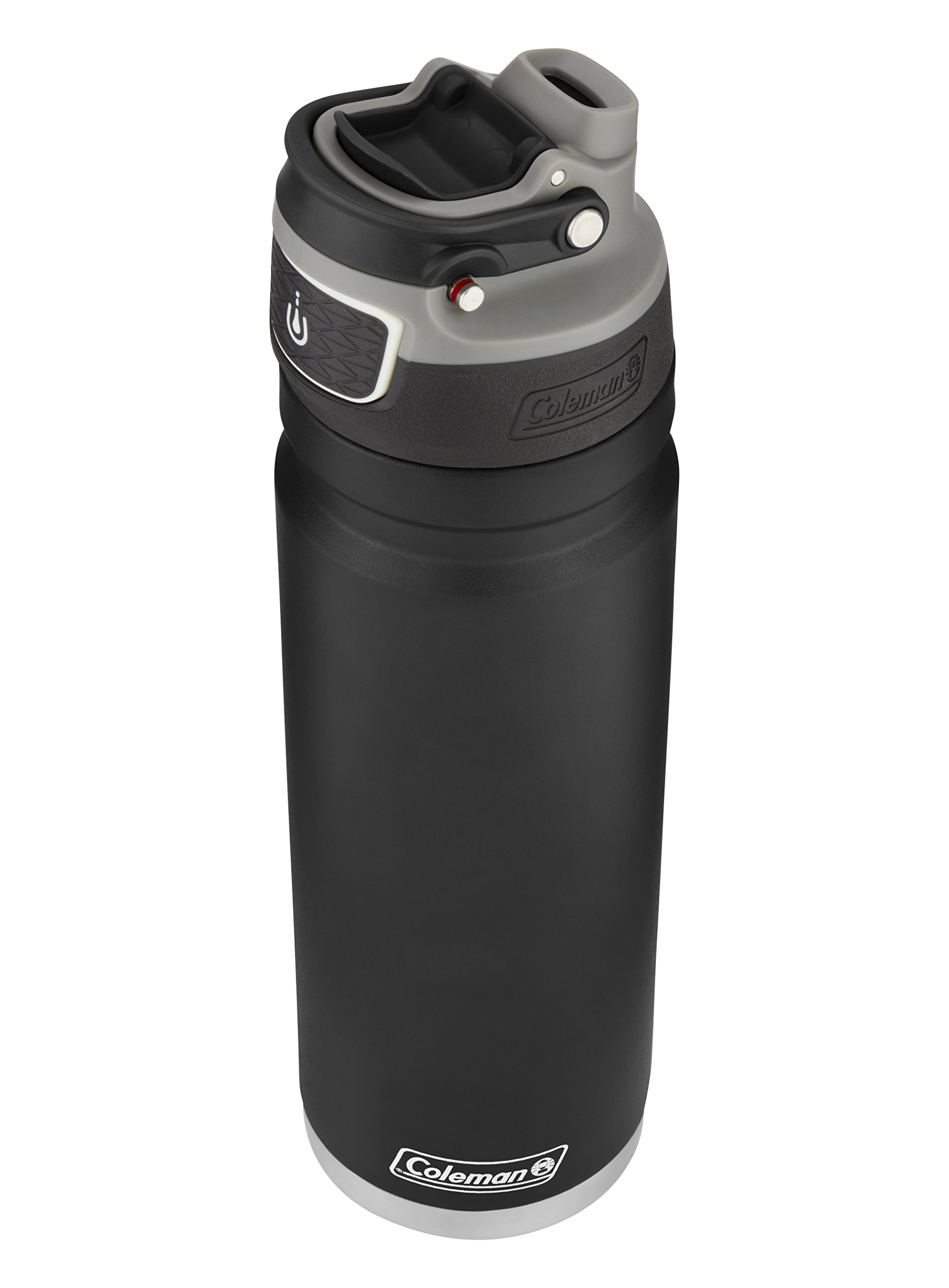 Coleman FreeFlow AUTOSEAL Insulated Stainless Steel Water Bottle, Black, 24 oz.