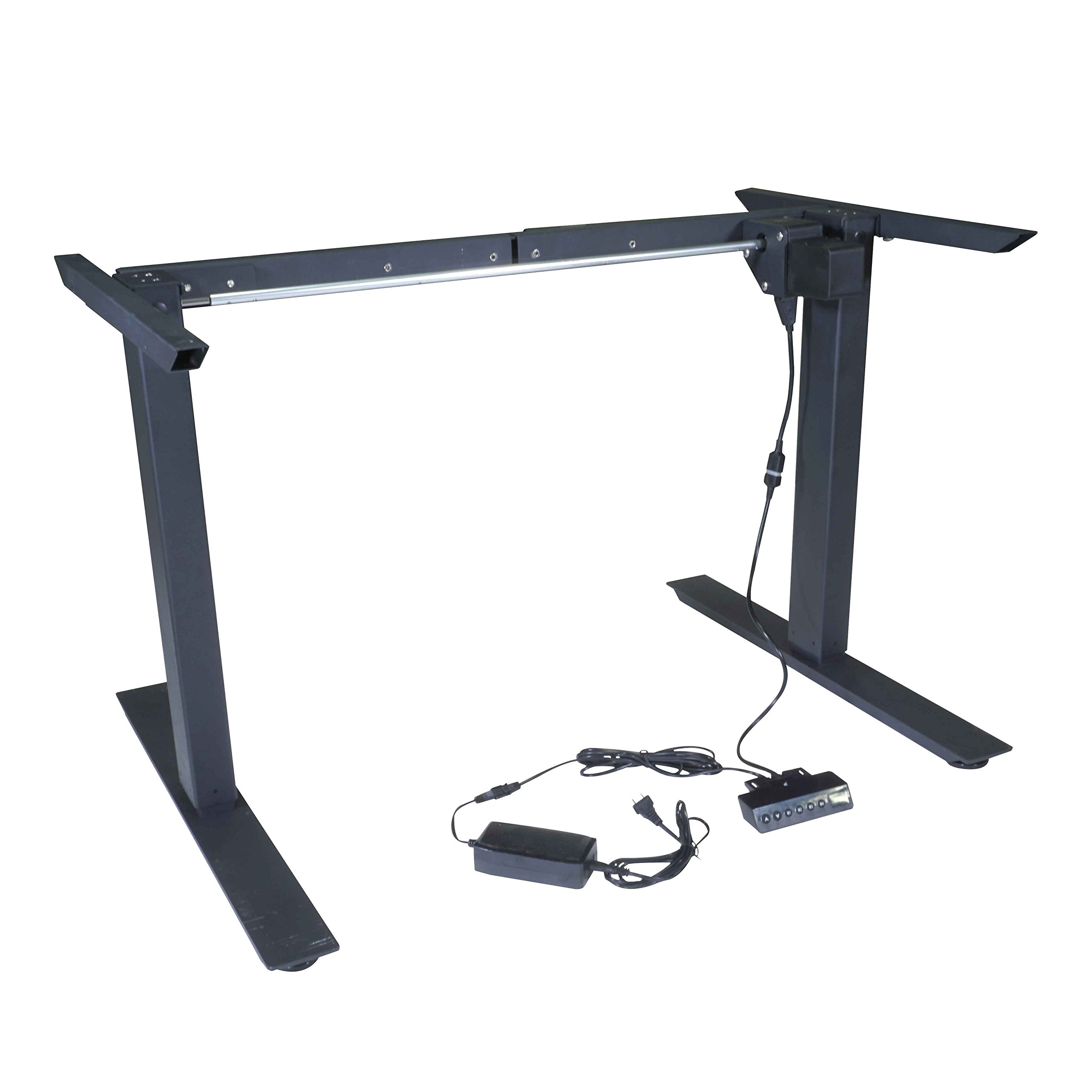 Titan Single Motor Electric Adjustable Base Height Sit-Stand Standing Desk Frame 46'' H 63'' W Programmable Buttons