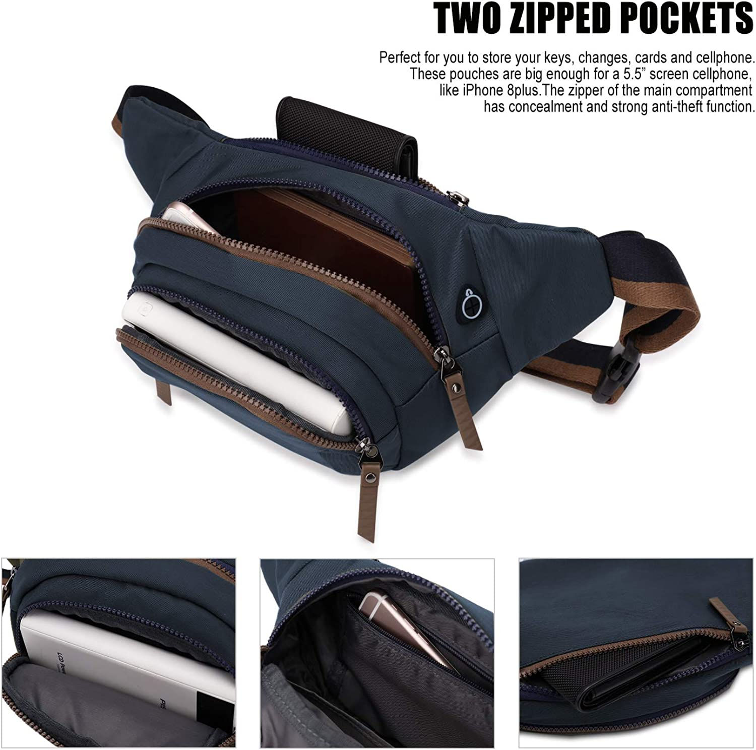 WindTook fanny pack waist bag for walking park cycling