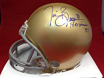 465072b2da3 Tim Brown Signed Notre Dame Mini Helmet cert   Y48244 - PSA DNA Certified -