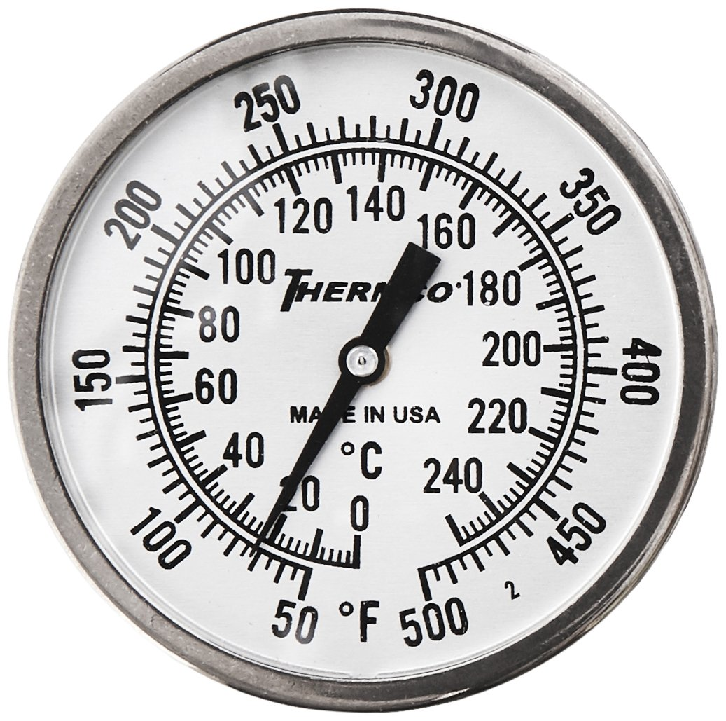 QUINCY LAB 301-2220 Dual Range Dial Thermometer for Bench Oven, In Door