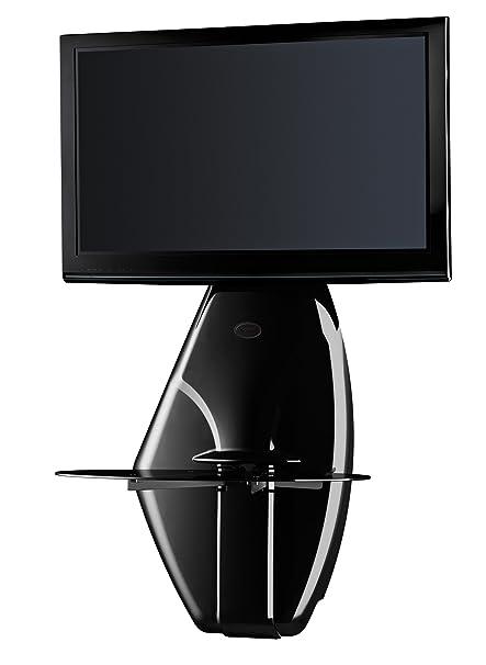 Porta Tv Da Parete Meliconi.Meliconi Ghost Design 500 Nero Glossy Supporto Da Muro Per Tv Da
