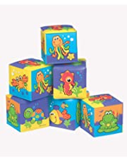 Playgro 0181170139107 Soft Blocks for baby infant toddler children, Playgro is Encouraging Imagination with STEM/STEM for a bright future - Great start for a world of learning