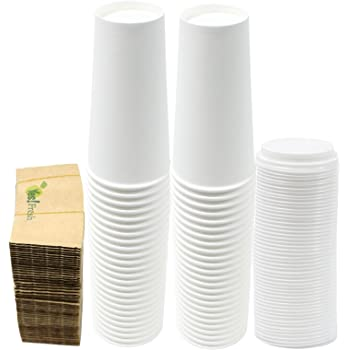 Amazon Com 24 Oz Insulated Paper Coffee Cups With White