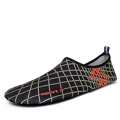 Barefoot Water Skin Shoes Boots Aqua Socks for Beach Swim Surf Black EU 35