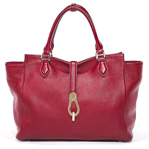 Amazon.com: Mujer de bolsos de piel genuino bolsas de bolso ...