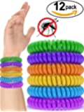 12 Pack Mosquito Repellent Bracelet Band - [320Hrs] of Premium Pest Control Insect Bug Repeller - Natural Indoor / Outdoor Insects - Best Products with NO Spray for Men, Women, Kids, Children