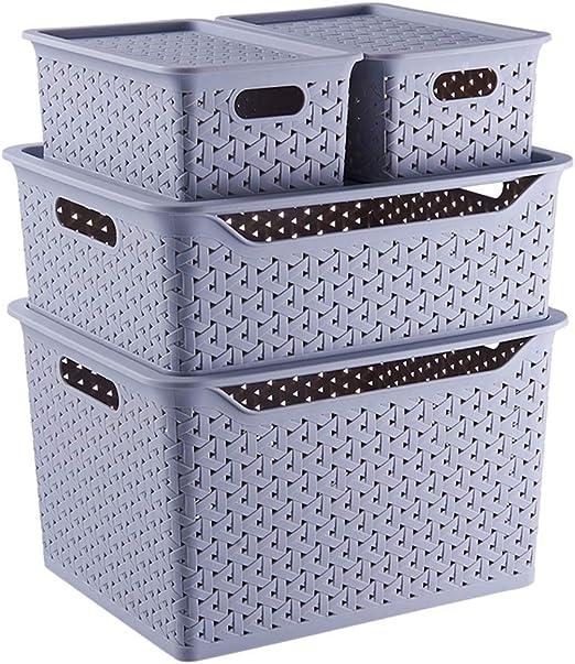 KTYXDE Pequeña Caja Transparente de Almacenamiento de plástico ...